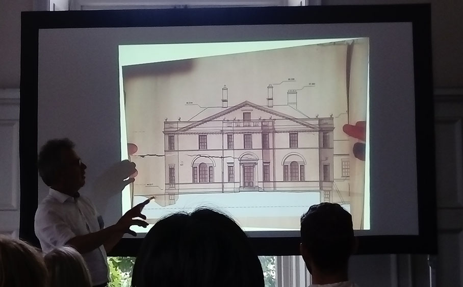 projection of an architectural drawing of a house